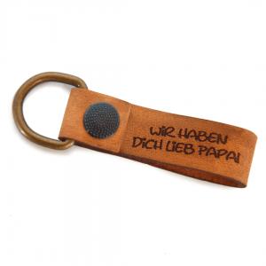 Leder Schlüsselanhänger mit Wunschgravur