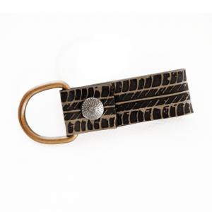 Schlüsselanhänger Leder mit Reifenspur graviert