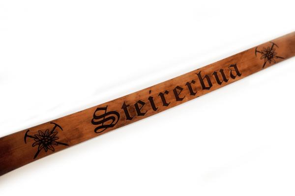 Ledergürtel mit Wunschgravur Echtleder 4cm breit