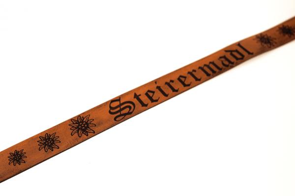 Ledergürtel mit Wunschgravur personalisiert | Echtleder 3,30cm breit