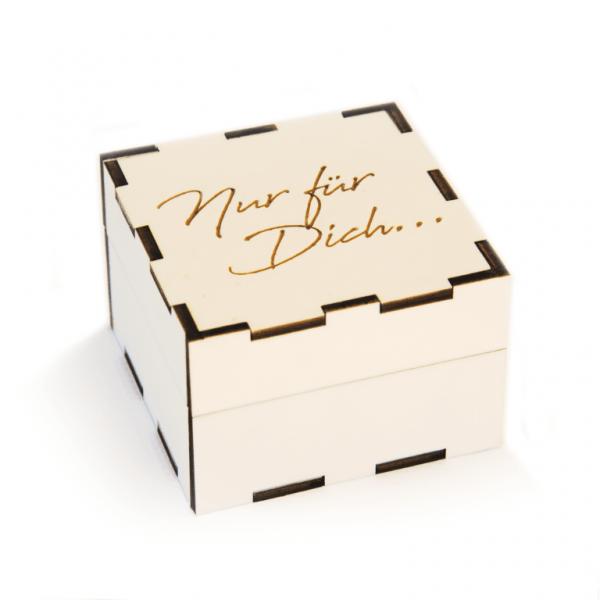 Geschenkbox Holzkiste | Nur für Dich... | Holzbox graviert
