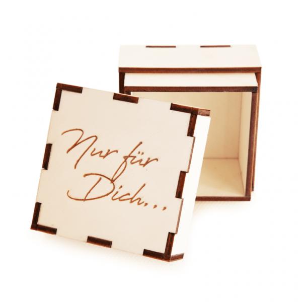 Geschenkbox Holzkiste | Nur für Dich... | Holzbox graviertGeschenkbox Holzkiste | Nur für Dich... | Holzbox graviert