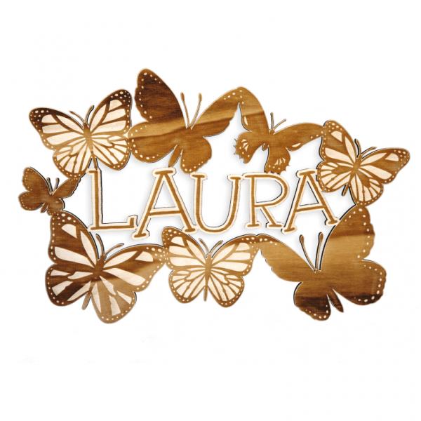 Wandbild Laura Kinderzimmer Namensschild