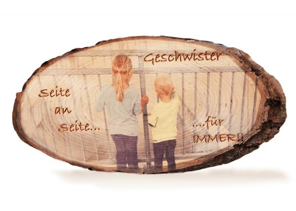 Fotodruck auf Holz mit Gravur