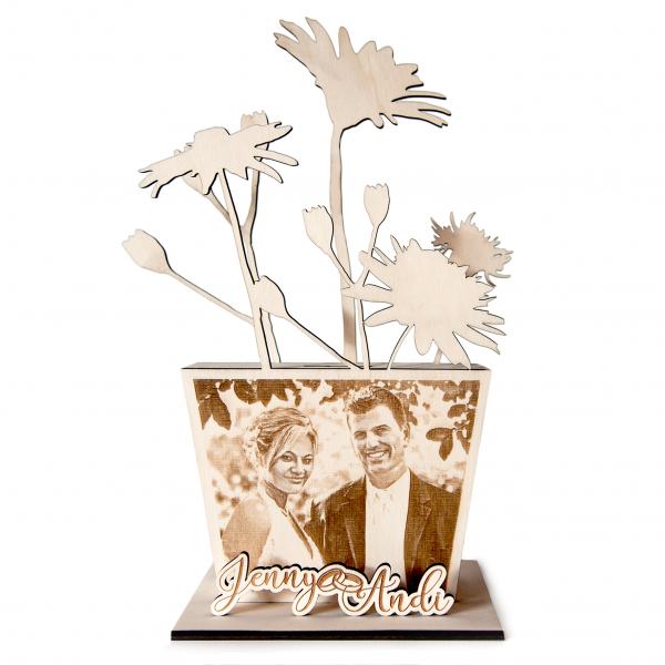 Spardose aus Holz mit Foto und Wunschgravur | Geldgeschenk