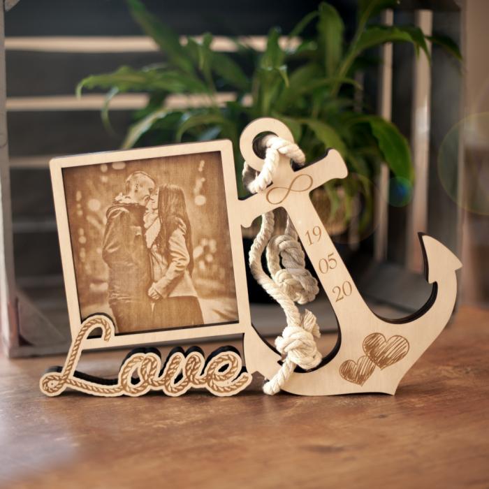 Anker Holzbild Love